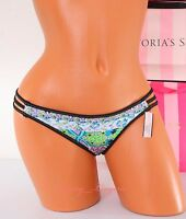 VS VICTORIA'S SECRET Swim Strappy Cheeky Bikini Bottom XS X-Small Black Multi