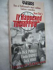 IT HAPPENED TOMORROW RENE CLAIR Dick Powell NTSC VHS SMALL BOX