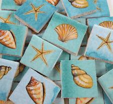 Ceramic Mosaic Tiles - Seashells Shells Starfish Beach Mosaic Tile Pieces