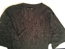 Brittany Black Multi-Color Dolman Style Sweater Size M