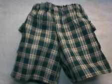 "Fits American Girl Boy 18"" Doll Clothes - Green Plaid Cargo Shorts 5"