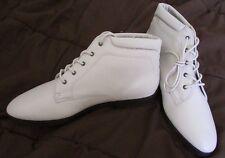 ELLEMENNO Dallas Women's Boots Leather Vintage Granny Grunge Beige Size 10 M NEW