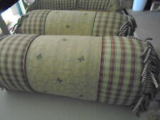 2 Two Eastern Accents Abigail Bolster Pillows Floral Flower New Butterflies