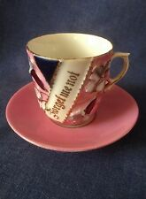 Vintage Continental China. A pretty pink 'Forget Me Not' Cup and Saucer.