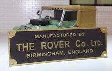 Land Rover Series 1 80 86 107 Bulkhead Chassis Metal Rover Factory Plate/Plaque