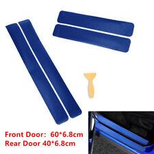 4x 3D Carbon Fiber Car Scuff Plate Door Sill Sticker Panel Protector Accessories