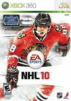 XBOX 360 NHL 10 Video Game Hockey Tournament Action 1080p HD Multiplayer 2010
