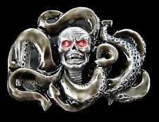 GIGANTIC OCTOPUS SKULL SQUID SEA CREATURE BELT BUCKLES BOUCLE DE CEINTURE