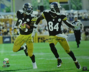 Antonio Brown & Leveon Bell Signed Pittsburgh Steelers 16x20 Photo JSA 15056