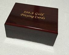 Elegant stylish Wooden Box For 54 Playing Cards Set for Poker Bridge Rummy