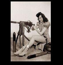 Sexy Pin-up Girl PHOTO World War 2 WW2 Pinup US Army