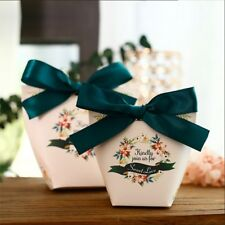 25x Wedding Sweet Candy Box Gift Boxes Paper Bag Event Party Favor Baby Shower