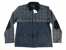 ASOS Men's Navy Check Walker Jacket Coat Size XL NWT $118