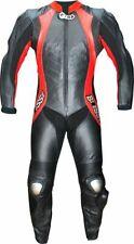 Tuta per moto racing da pista in vera pelle intera con Gobba-48 50-52 54 56 58
