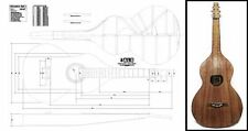 Weissenborn Acoustic Lap Slide Guitar Full-Scale Plan