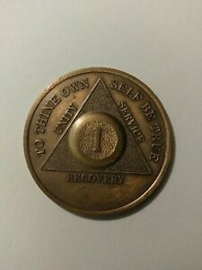 Alcoholics Anonymous 1 Year Medallion