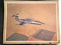 Lockheed F-104 Starfighter Aviation Rare Vintage Print Airplane
