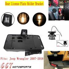 1Pc Plastic Rear License Plate Holder Bracket w/Light For 07-18 Jeep Wrangler