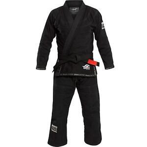 Fuji Suparaito Super Lightweight Mens Brazilian Jiu-Jitsu BJJ Gi - Black w White