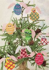 Who's The Bunny Quilt Pattern Pieced/Embellished EB Easter Ornaments