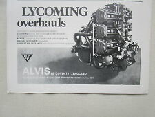 7/1970 PUB ALVIS COVENTRY LYCOMING ENGINE OVERHAUL ORIGINAL AD