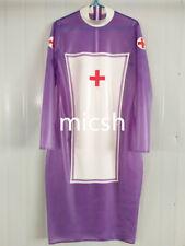 100%  Latex Catsuit Rubber Tights Sexy nurse dress handmade 0.4MM S-XXL