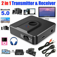 3in1 USB Bluetooth 5.0 Audio Transmitter Receiver Adapter For TV PC Car Grace