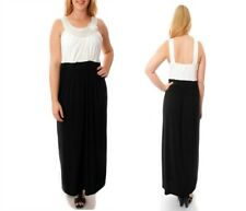 LD17 Womens Size 22/24 Black Formal Work Office Maxi Summer Party Dress Plus