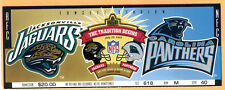 RARE FULL TICKET! 7/29/95 HALL OF FAME GAME-1ST GAME EVER FOR JAGUARS & PANTHERS
