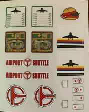 Custom Replacement Vinyl Stickers for Lego 6399 Airport Shuttle - Die Cut!