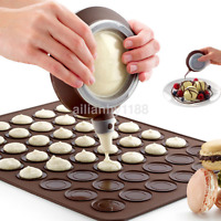 Silicone Cake Muffin Macaroon Piping icing Baking Tool Pot 4 Nozzles Set US