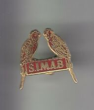 RARE PINS PIN'S .. ANIMAL OISEAU BIRD PERROQUET PARROT SIMAB RED PEINTURE 85 ~CX