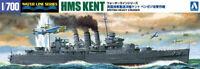 AOSHIMA BRITISH HEAVY CRUISER HMS KENT 1/700 Plastic model