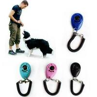 Dog Training Click Whistle Clicker Pet Guide Obedience Pet Trainer Click Pu S7T3