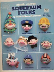 Squeezum Folks Kisses Kissies Squeezums Squeezies plastic canvas pattern booklet
