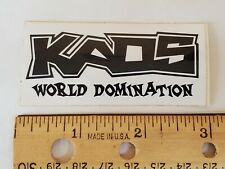 OLD SCHOOL BMX KAOS WORLD DOMINATION STICKER DECAL 1990s NOS RARE