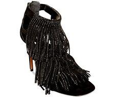 NEW Steve Madden Fringly-R Embellished Fringed Suede Leather Pumps Heels - 7