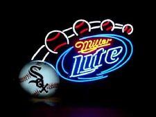 """New Miller Lite Chicago White Sox MLB Beer Neon Sign 24""""x20"""""""