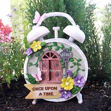 Solar Fairy House - Once Upon A Time Clock - Fairy Garden