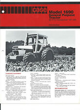 CASE DB 1690 USA CAB  4wd Tractor sales Leaflet Brochure
