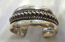 HEAVY  CUFF BRACELET W, HALLMARKS ON TOP  WT. 78 GRAMS