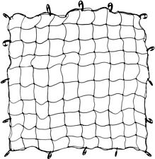 """Black Trunk Cover Bungee Netting 60"""" x 60"""" with Hooks"""