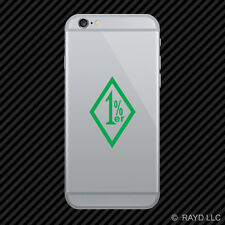 (2x) 1%er Cell Phone Sticker Mobile outlaw 1 Percenter 1% er many colors