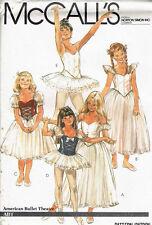 Vintage McCall's 7991 Professionnel Ballet Tutu Dance wear sewing pattern