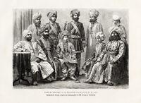 Antique Print-TYPES-COSTUMES-PAKISTAN-RADJAH-BAHAWALPOUR-COUR-Reclus-1883