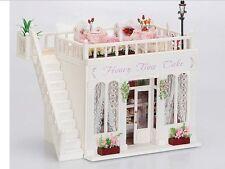 Dollhouse Miniature DIY Kit w/ Light Bakery Shop Store Honey Time Cake Love NIB