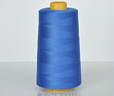 1 SPOOL BLUE  #675 100% SPUN POLYESTER SERGER QUILTING THREAD T27 6000 YARDS