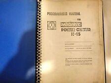 Mazak Power Center H-15 Programming Manual