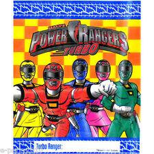POWER RANGERS Turbo FAVOR BAGS (8) ~ Birthday Party Supplies Loot Treat Sacks