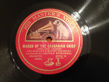 "LEOPOLD STOKOWSKI ""March Of The Caucasian Chief""/""Danse Orientale"" 78rpm 1928 M-"
